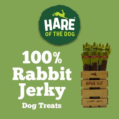 Hare of the Dog 100% Rabbit Jerky Dog Treats