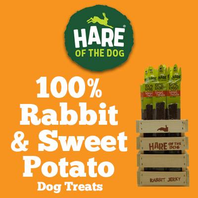 Hare of the Dog 100% Rabbit and Sweet Potato Jerky Dog Treats