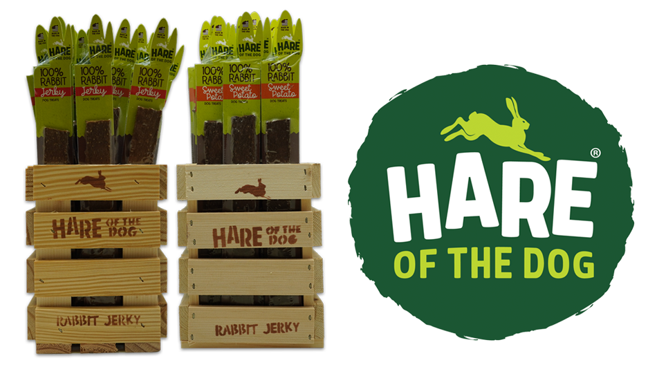 Hare of the Dog Rabbit Jerky Crates with Logo